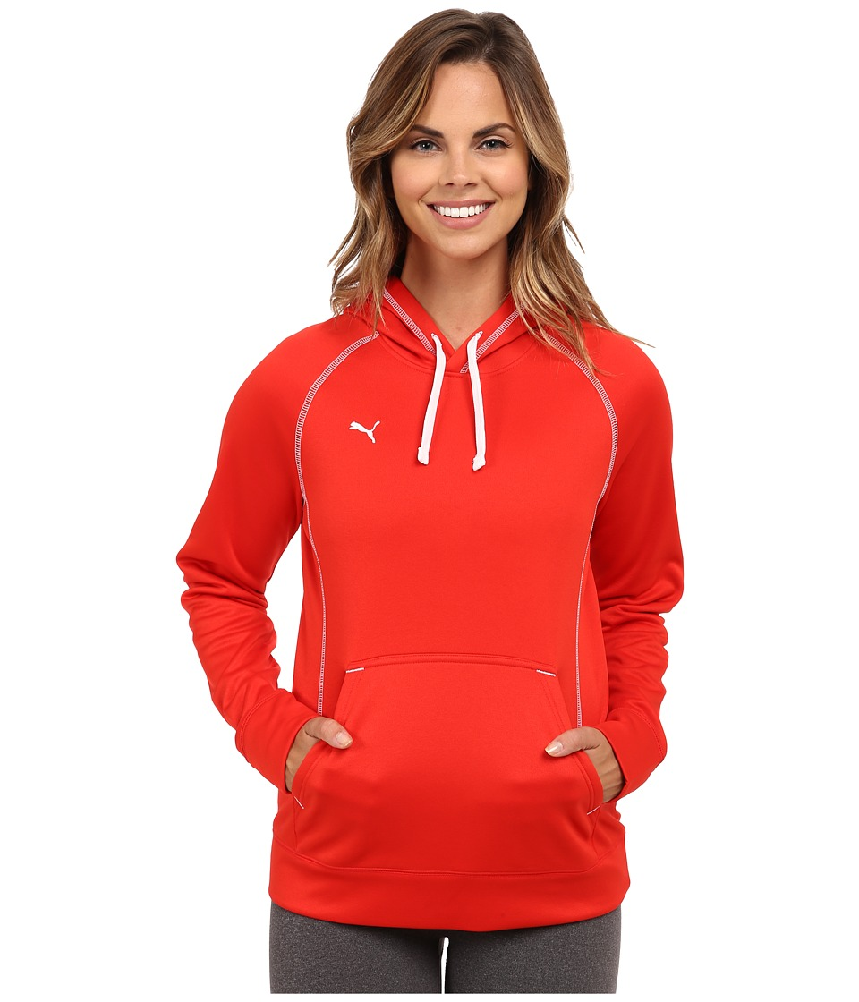 PUMA - Her Game Performance Hoodie (Puma Red/White) Women's Sweatshirt