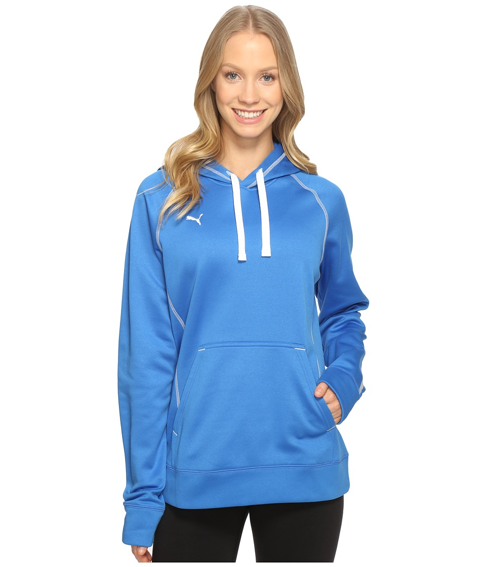 PUMA - Her Game Performance Hoodie (Puma Royal/White) Women's Sweatshirt