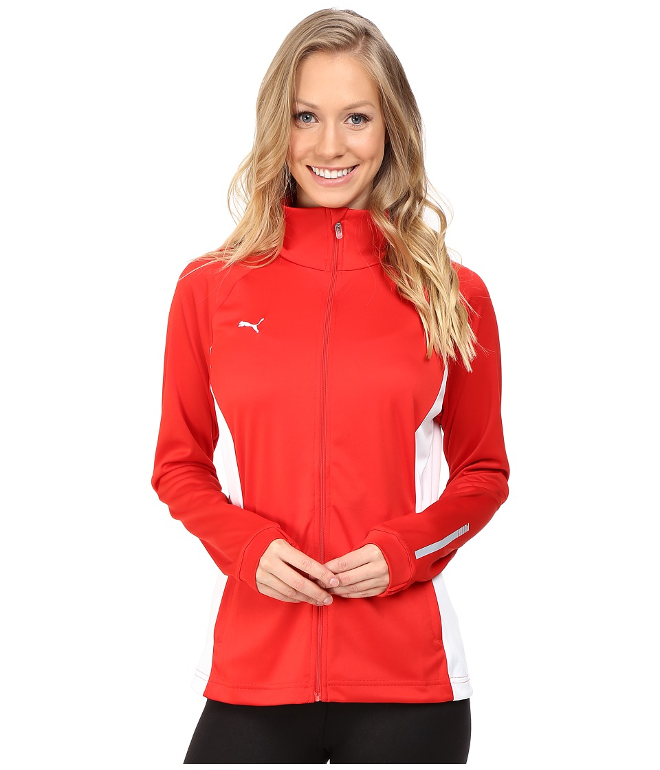 PUMA - Hergame Walkout Jacket (Puma Red/White) Women's Jacket