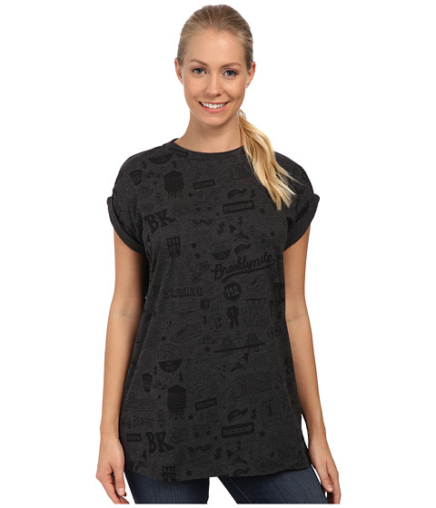 PUMA - Sophia Chang Graphic Tee (Dark Gray Heather) Women's T Shirt