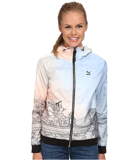 PUMA - Sophia Chang Wind Jacket (Pink/Watercolour) Women's Jacket