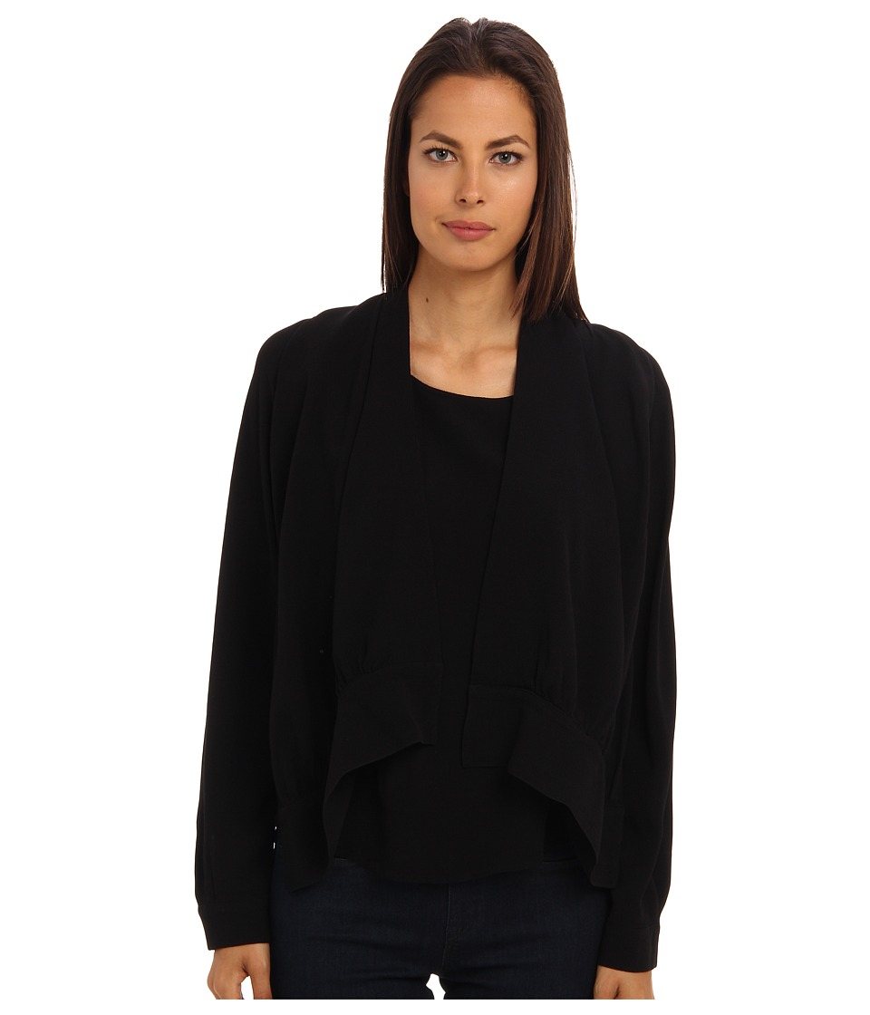 See by Chloe - L/S Blouse With Cape Detail (Black) Women's Blouse