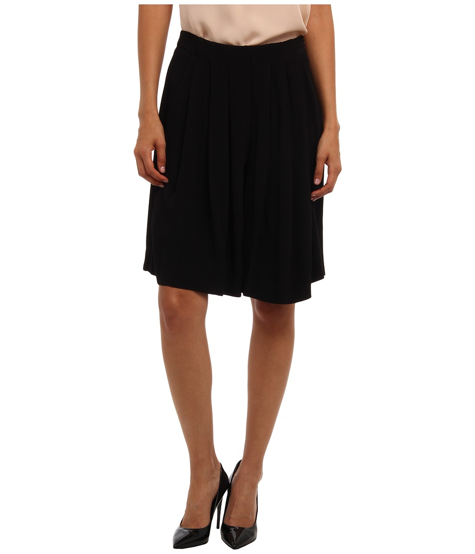 See by Chloe - Pleated Midi Skirt (Black) Women's Skirt