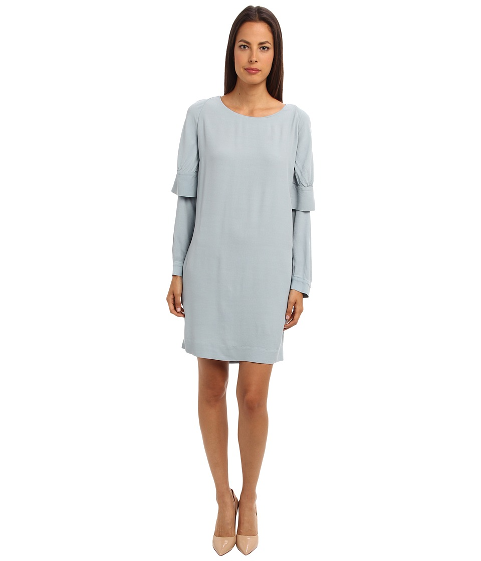 See by Chloe - L/S Dress With Cape Detail (Tourmaline) Women's Dress