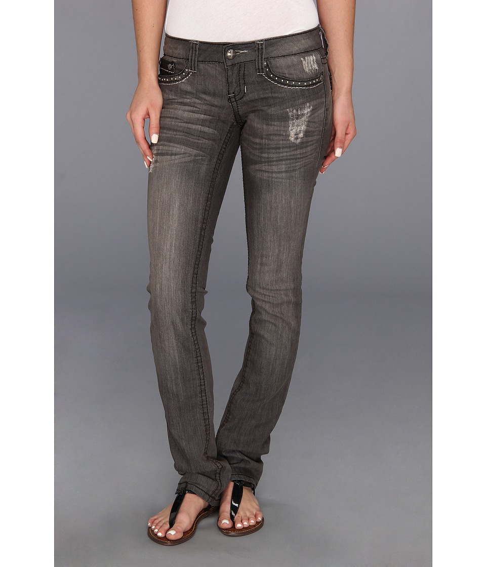 Antique Rivet - Tori - Juniors Jeans in Ticket Grey Stonewash (Ticket/Grey STW) Women