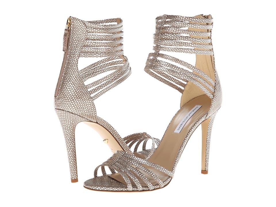 Diane von Furstenberg - Ursula (Silver Metal Iguana Print) Women's Shoes