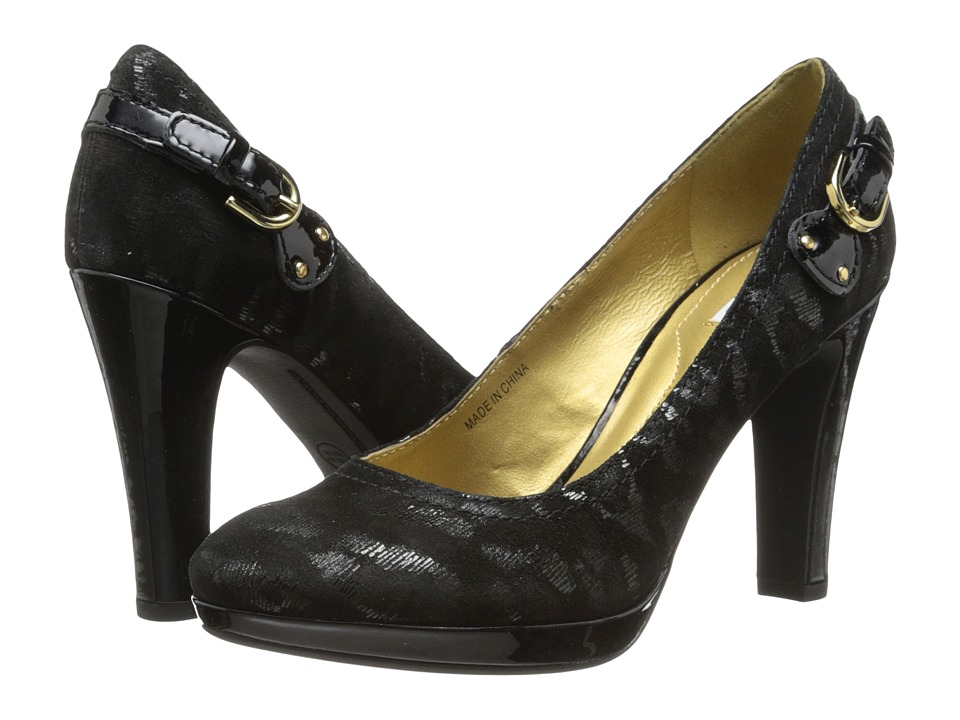 Geox - D Mariele Plat (Animal Print) (Black Oxford) High Heels