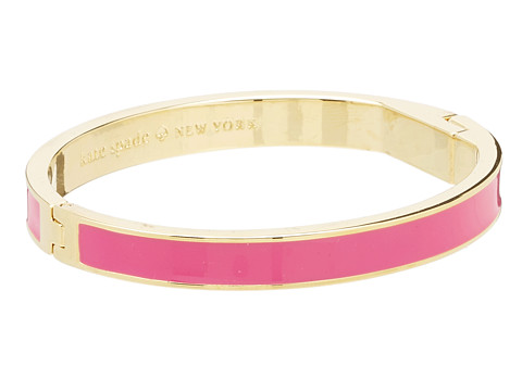 Kate Spade New York - Hinged Idiom Bangle Tickled Pink (Bougainvillea Pink) Bracelet
