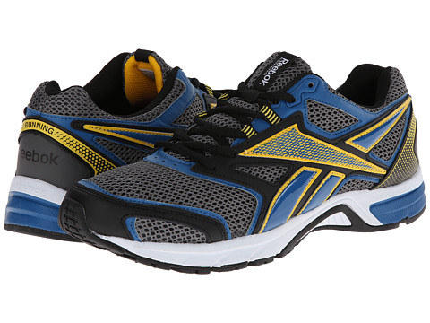 Reebok - Southrange Run L (Rivet Grey/Persian Blue/Retro Yellow/Black/White) Men