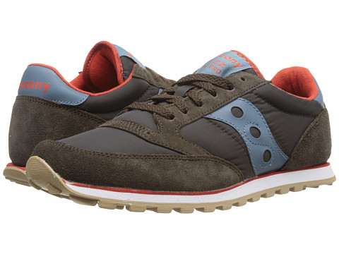 Saucony Originals - Jazz Low Pro (Brown/Blue) Men's Classic Shoes