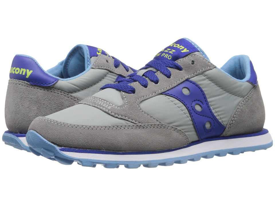 Saucony Originals - Jazz Low Pro (Light Grey/Dark Blue) Women's Classic Shoes