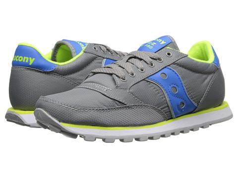 Saucony Originals - Jazz Low Pro Nylon (Grey/Blue) Women's Classic Shoes
