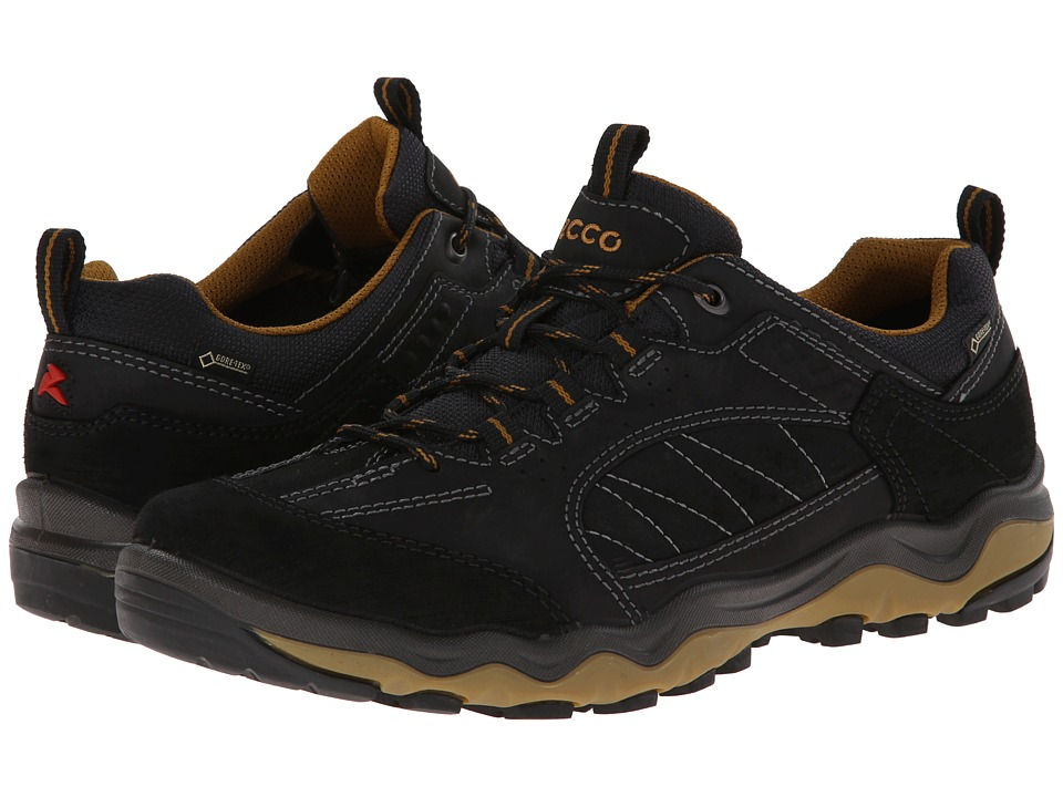 ECCO Sport - Ulterra Lo GORE-TEX (Black/Black/Dried Tobacco) Men's Shoes