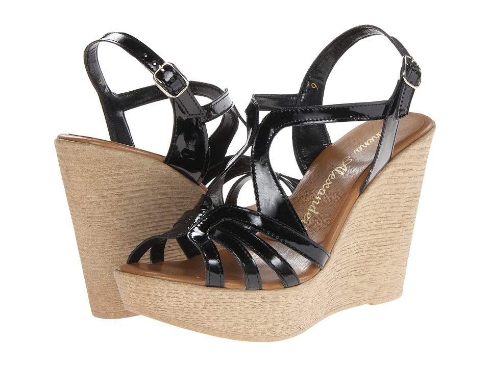 Athena Alexander - Tia (Black Patent) Women's Wedge Shoes
