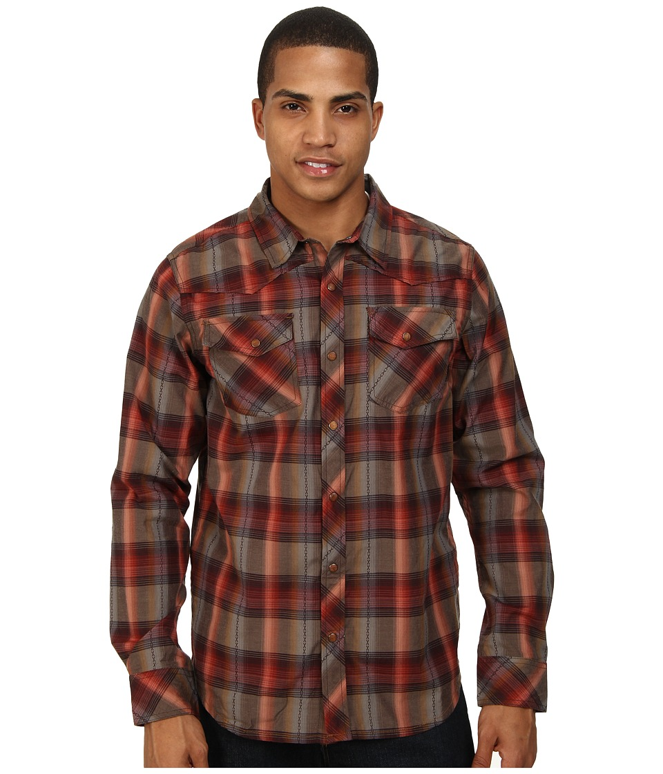 Prana - Holdstad Shirt (Espresso) Men's Long Sleeve Button Up