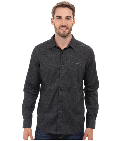 Prana - Sutra Slim Shirt (Black) Men