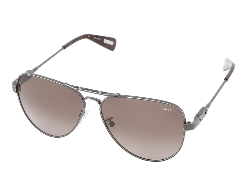 Lanvin - SLN038 (Gunmetal Brown/Gradient Brown) Fashion Sunglasses