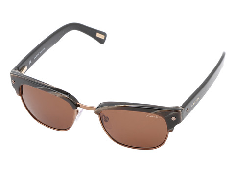 Lanvin - SLN591 (Brown Horn/Bronze/Roviex) Plastic Frame Fashion Sunglasses