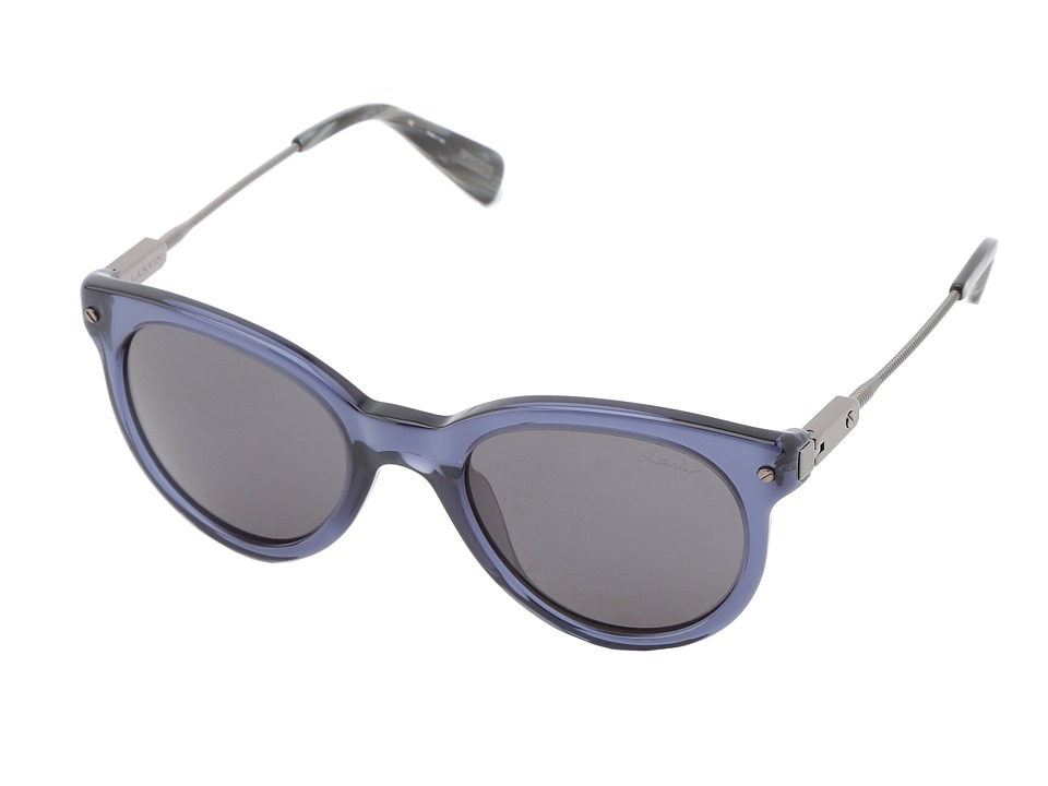 Lanvin - SLN587 (Shiny Antiqued Pewter/Grey Horn/Smoke) Fashion Sunglasses