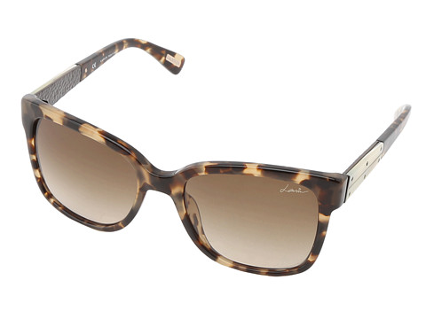 Lanvin - SLN592 (Honey Havana/Brown Gradient) Plastic Frame Fashion Sunglasses