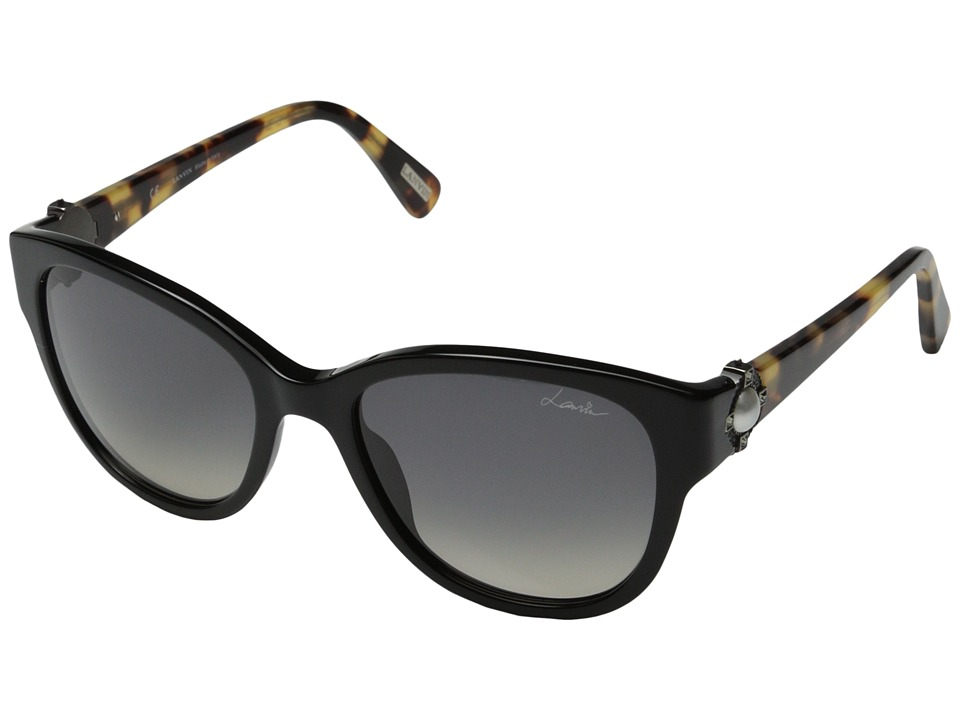 Lanvin - SLN596S (Black/Havana/Smoke Gradient) Plastic Frame Fashion Sunglasses