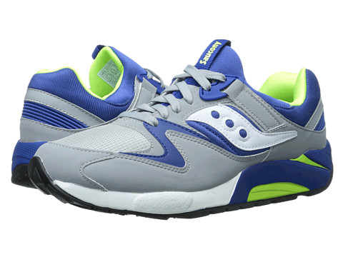 Saucony Originals - Grid 9000 (Grey/Blue) Men