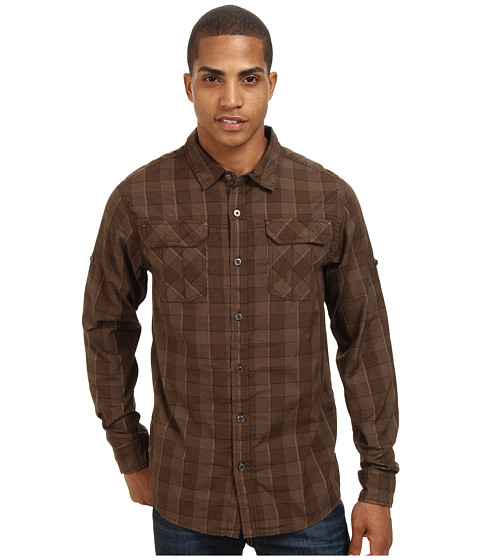 Prana - Terrain Shirt (Brown) Men's Short Sleeve Button Up