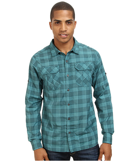 Prana - Terrain Shirt (Deep Teal) Men's Short Sleeve Button Up