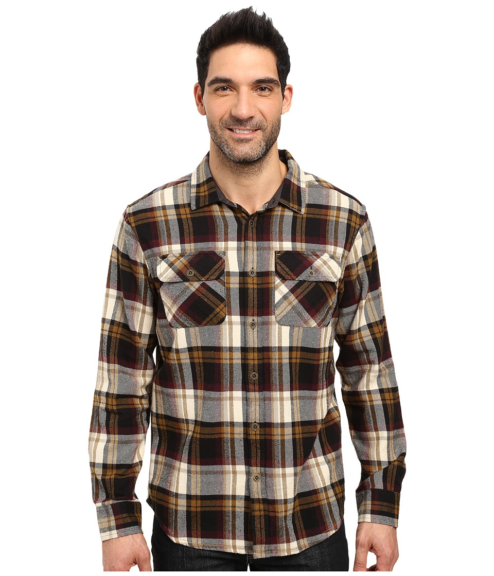 Prana - Lybeck L/S Flannel (Black) Men's Long Sleeve Button Up