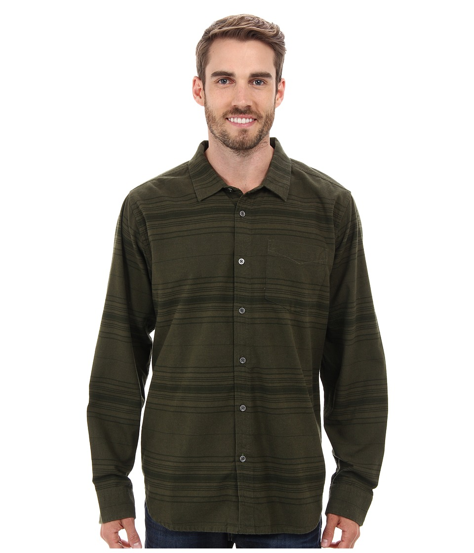Prana - Leon L/S Flannel (Cargo Green) Men's Long Sleeve Button Up