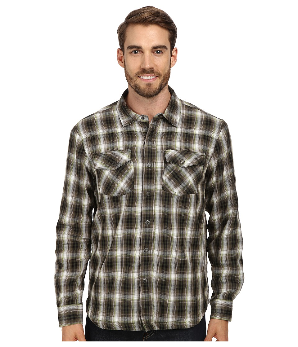 Prana - Asylum Flannel (Cargo Green) Men's Long Sleeve Button Up