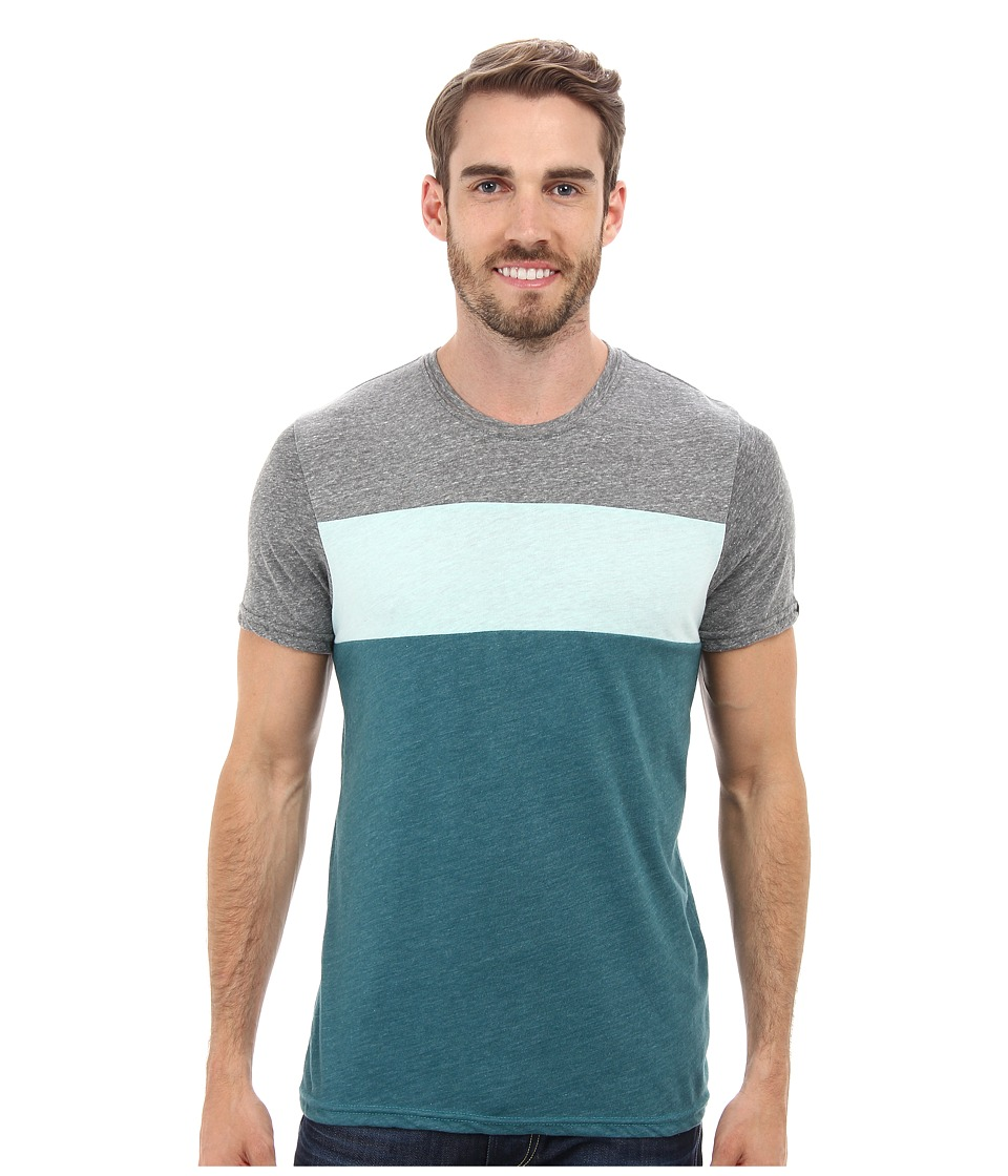 Prana - Jax Crew (Deep Teal) Men's T Shirt