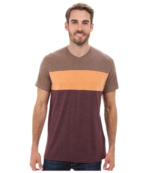 Prana - Jax Crew (Mahogany) Men's T Shirt