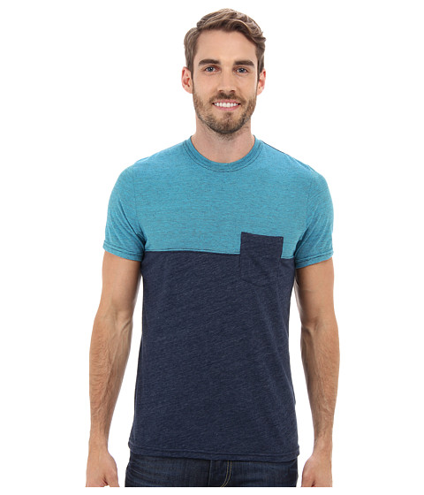 Prana - Ian Pocket Crew (Dress Blue) Men