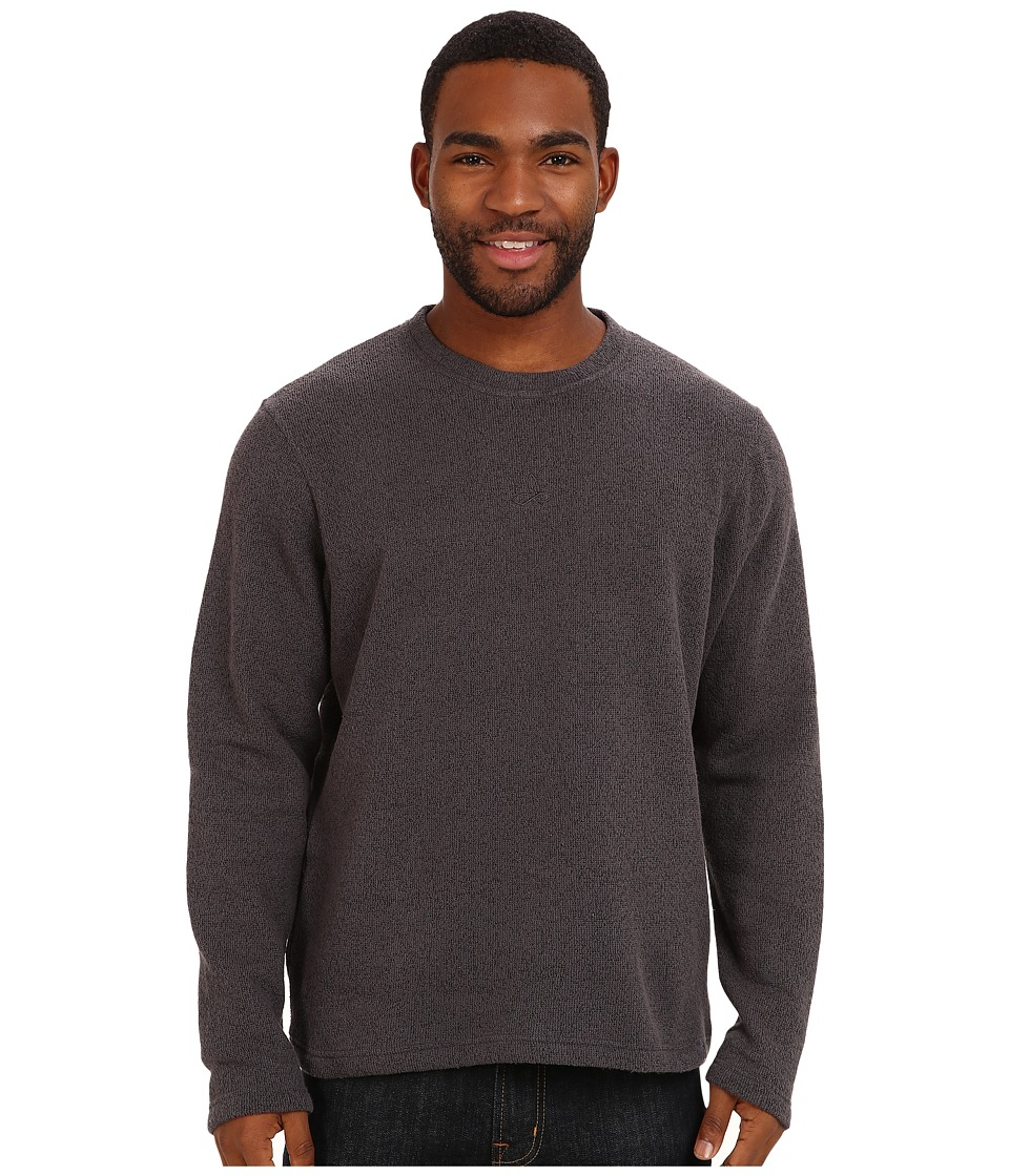 Prana - Sherpa Crew (Coal) Men's Long Sleeve Pullover