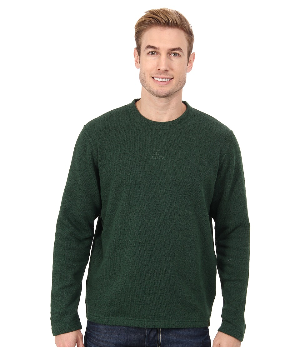 Prana - Sherpa Crew (Pineneedle) Men's Long Sleeve Pullover