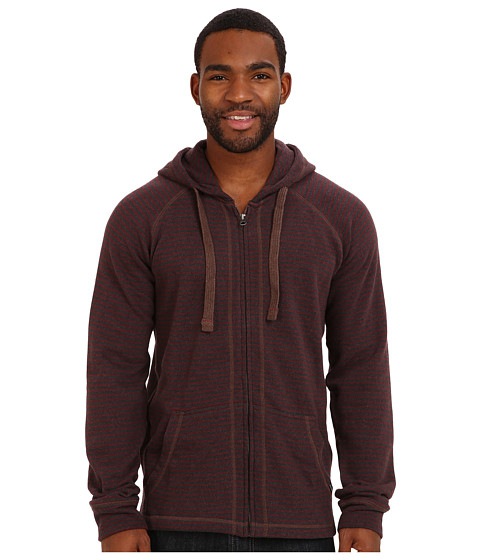 Prana - Kennet Full Zip (Mahogany) Men's Sweatshirt