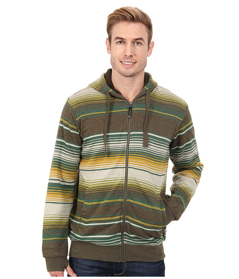 Prana - Tollak Full Zip (Cargo Green) Men's Sweatshirt