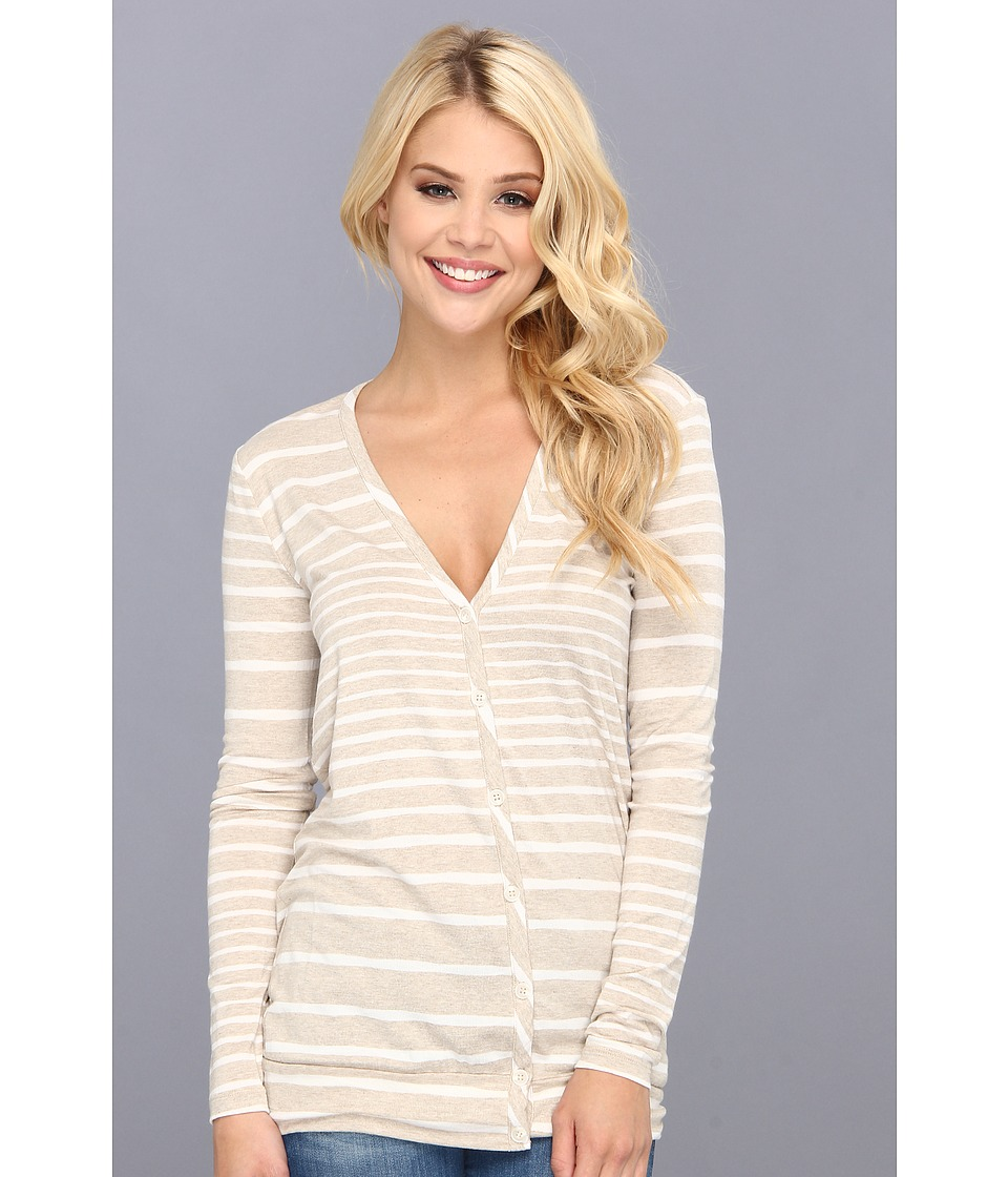 Three Dots - L/S Tunic Cardigan (Oatmeal) Women's Sweater
