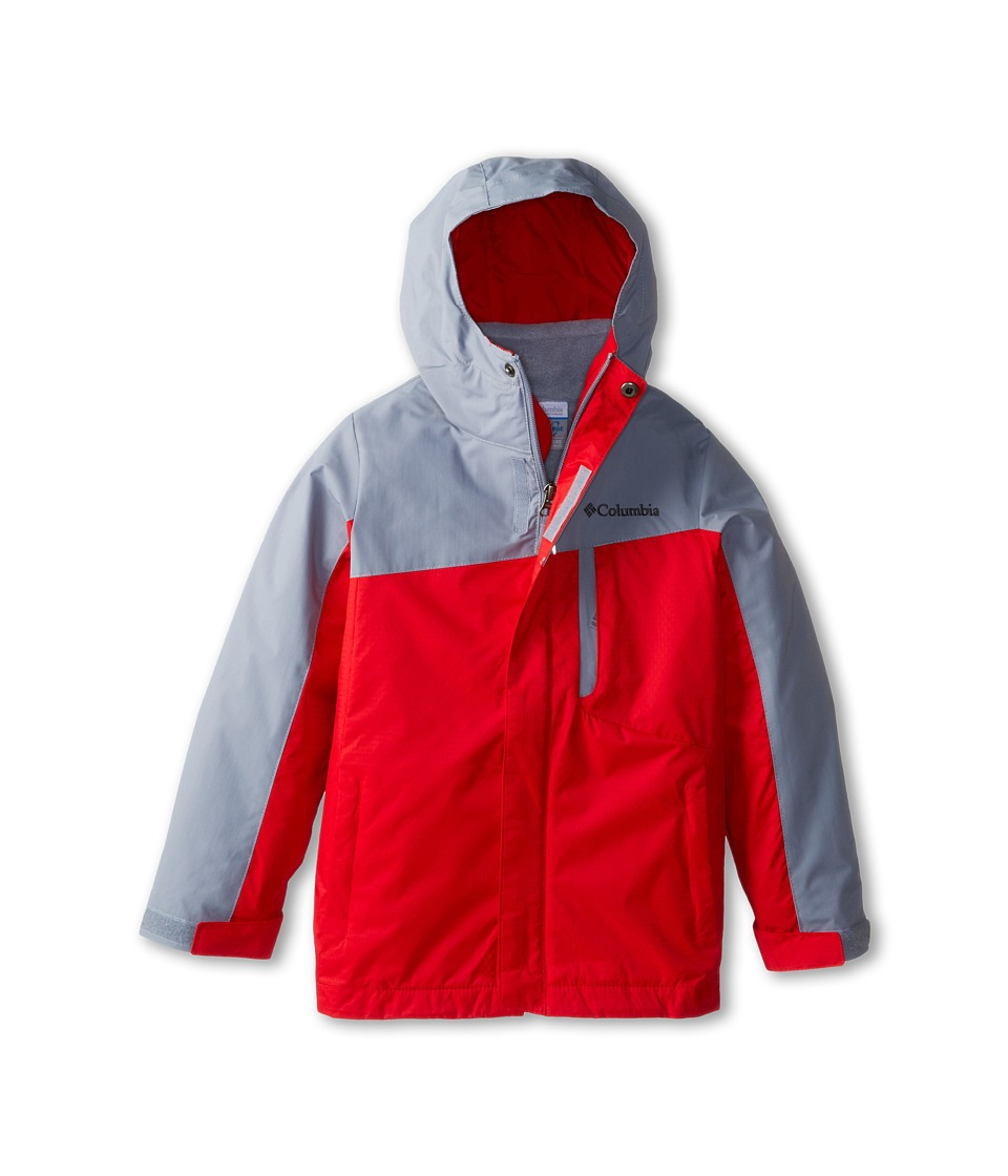 Columbia Kids - Eager Air Interchange (Little Kids/Big Kids) (Tradewinds Grey/Bright Red) Boy's Coat