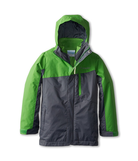 Columbia Kids - Eager Air Interchange (Little Kids/Big Kids) (Clean Green/Graphite) Boy's Coat
