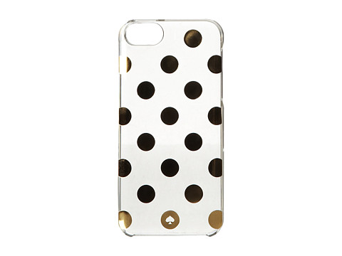 Kate Spade New York - Le Pavillion Clear Resin PhoneCase for iPhone 5 and 5s (Clear/Gold) Cell Phone Case