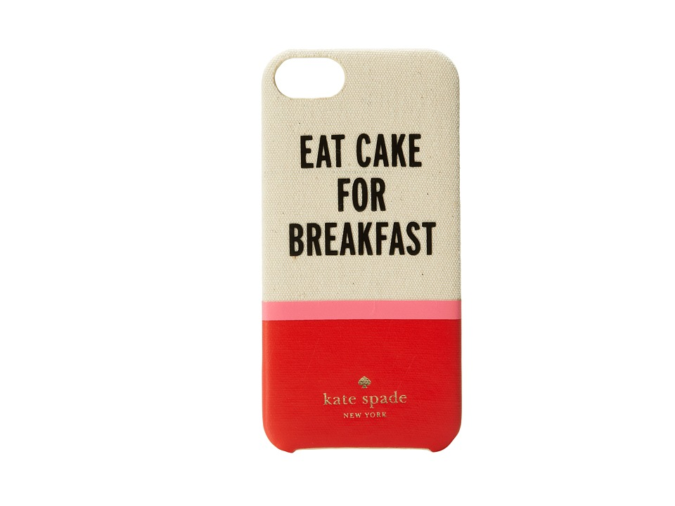 Kate Spade New York - Eat Cake For Breakfast Resin Phone Case for iPhone 5 and 5s (Multi) Cell Phone Case