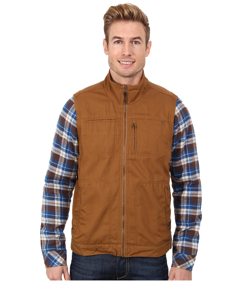 Prana Lomen Convertible Jacket (Dark Ginger) Men