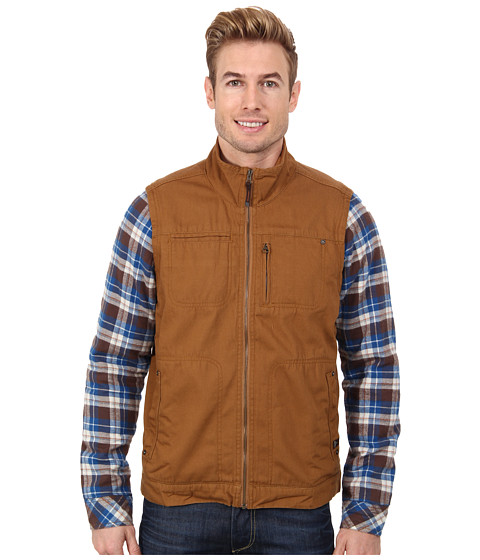 Prana - Lomen Convertible Jacket (Dark Ginger) Men's Jacket