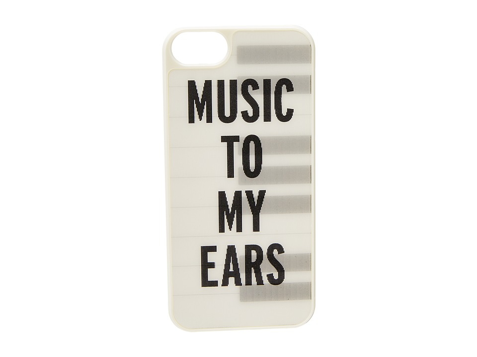 Kate Spade New York - Piano Keys Lenticular Resin Phone Case for iPhone 5 and 5s (Cream/Black) Cell Phone Case