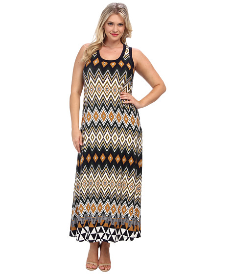 Karen Kane Plus - Plus Size Egyptian Diamond Maxi Dress (Multi) Women