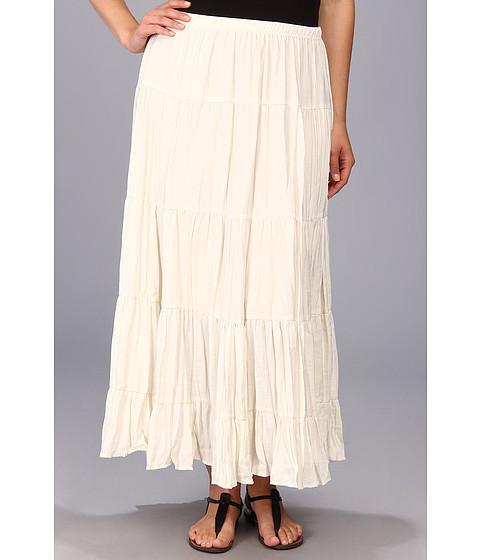 Karen Kane Plus - Plus Size Lined Tiered Skirt (Cream) Women