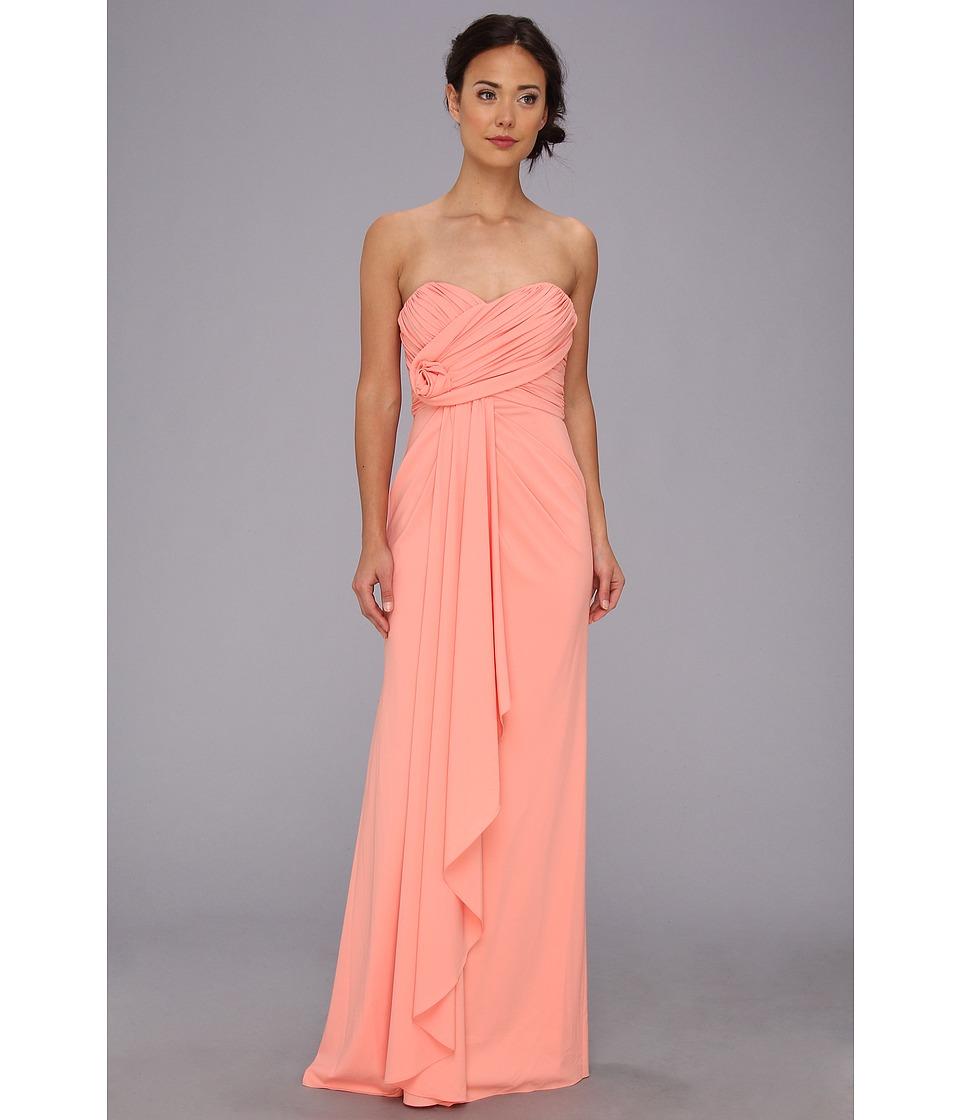 Badgley Mischka - Strapless Gown (Coral) Women's Dress