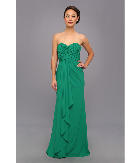 Badgley Mischka - Strapless Gown (Emerald) Women's Dress